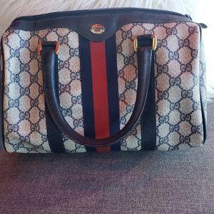 Vintage Gucci Navy Boston Doctor Bag
